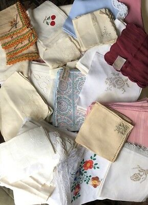 Huge Lot Vintage Estate Cloth Napkins Mixed Lot Dinner Buffet some stained 100+