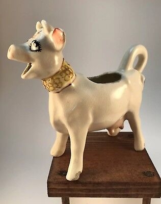 Vintage Elsie The Cow Creamer Bordens Co. With Another Cow Creamer And Pig Head