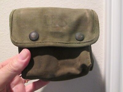 WW2 US Jungle First Aid pouch 1945 used original and salty with some contents