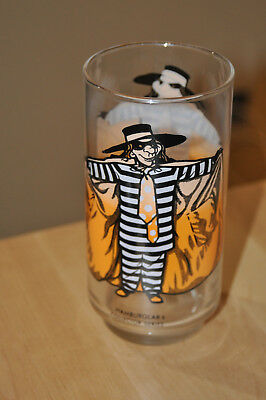 1970s McDonalds Glasses - Hamburglar   Vintage McDonalds collectables