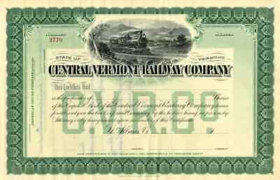 19__ Central Vermont RW Stock Certificate