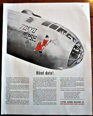 Tokyo Rose  Bomber Nose Art WWII Ad