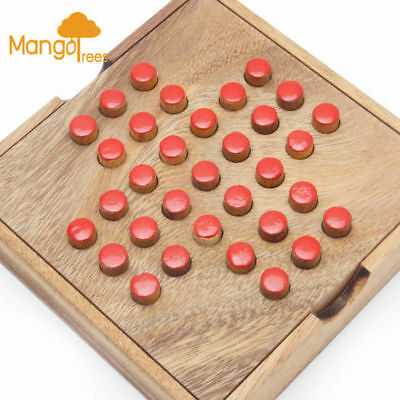 Mango Trees Brand Solitaire Game with Wooden Pins - Wooden Family Board Games