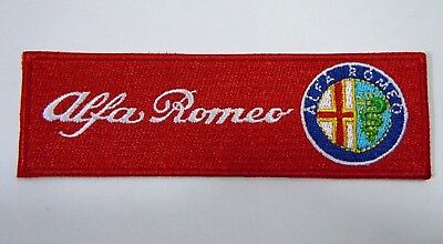 "ALFA ROMEO Iron-On Automotive Car Patch 4.5"" Strip - Original Design Patch"