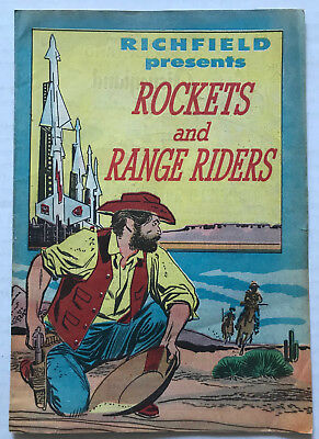 SCARCE 1957 Disneyland Richfield ROCKETS AND RANGE RIDERS Promotional Comic Book