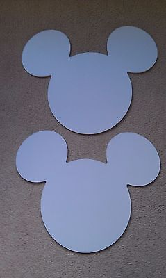 """2 - Large Mickey Mouse Custom Cut Silouettes - 18.75"""" Wide, 15"""" High, .25"""" Thick"""