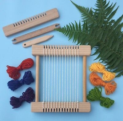 "Weaving Loom Craft Kit -""Little Owl - Natural"" Children's Steiner Inspired Kit"