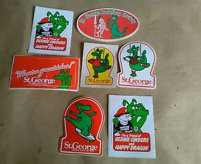 vintage st george bank stickers