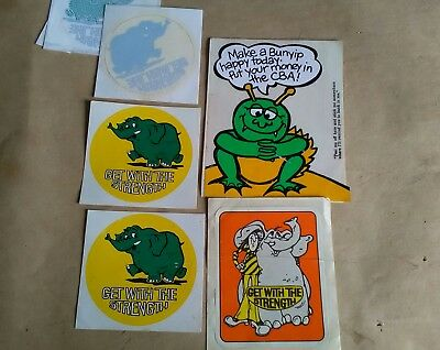 vintage CBA bank stickers