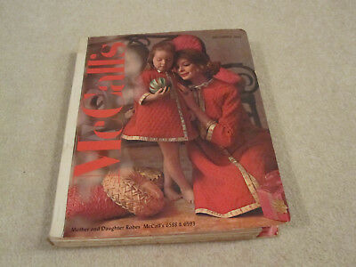 Vintage McCalls pattern book large store counter book used December 1962
