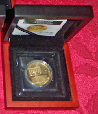 "Israel 1 oz gold coin ""Menorah"" (2012), 3rd coin in Holy Land series"
