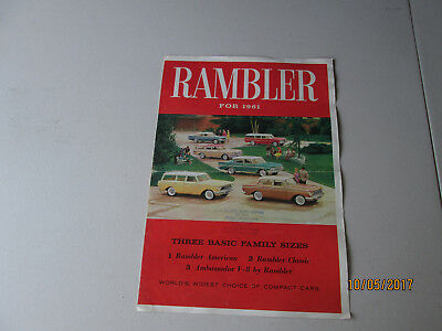 Rambler For 1961 Three Basic Family Sizes World's Widest Choice dealer brochure