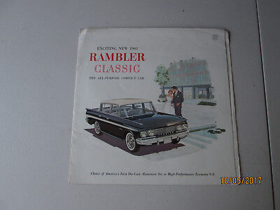 Exciting New 1961 Rambler Classic The All-Purpose Compact Car dealer brochure