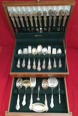 Joan of Arc International Sterling Silver Flatware Set Service for 12 72 Pieces