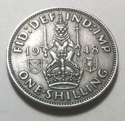 Great Britain 1948 One Shilling (Scotland Version) Coin - King George VI