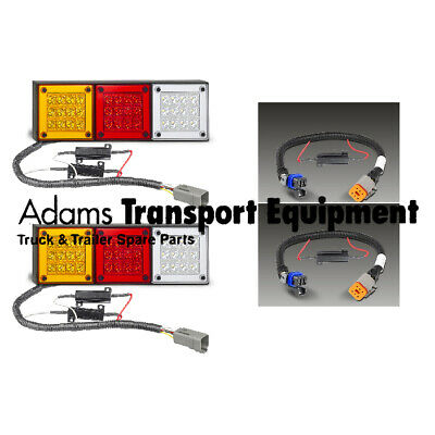 280ARWM + Holden Colorado RG Patch Leads Plug & Play LED 4WD Tail Light Kit