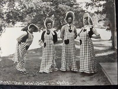 """Rare 1904 FUNNY """"CAMP MAY"""" PHOTOS ~ ILLINOIS? Real Silly Antique vtg old lot set"""