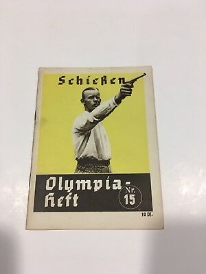Walther Olympia Pistol Booklet 1936 Berlin Olympics