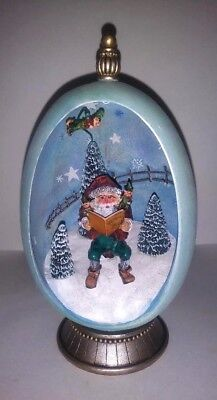"""Bobbie Takashima """"Figament"""" 'Christmas Story' lighted egg with pedestal in box"""
