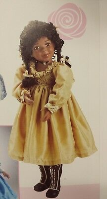 """New Never Removed From Box African American 23"""" Porcelain Doll"""