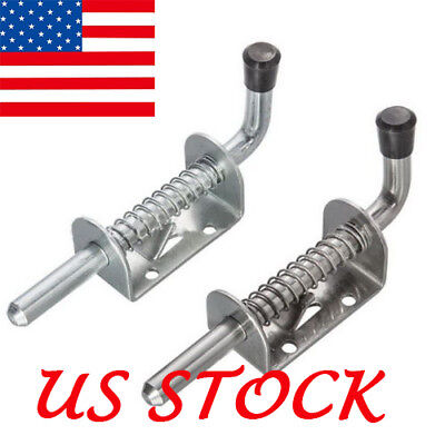 US Stainless Steel Iron Spring Pin Latch Lock Assembly for Utility Trailer Gate