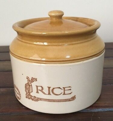 Bendigo pottery Retro Rice Canister Heritage Ware Very Good Condition