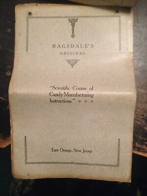 Ragsdale's Original Scientific Course Of Candy Manufacturing Instructions