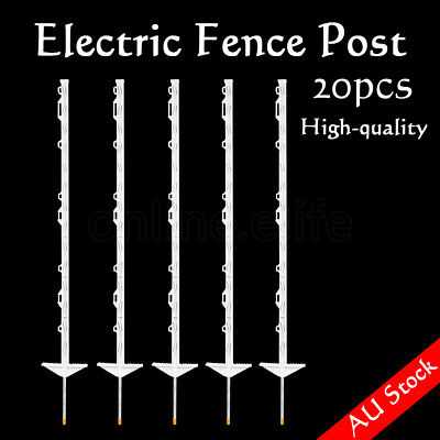 20x Electric Fence Post Fencing Strip Graze Poly Tread In Posts Multi Wire Tape