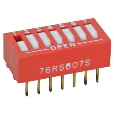 10PK DIP Switch 7-Position Standard Rocker Flush