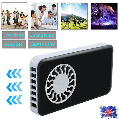 Mini Handheld Black Portable Fans Rechargeable USB  Cooling Air Pocket Fan 5V 3W