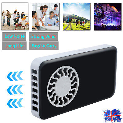 Mini Portable Pocket Hand Held Fan Cool Air Travel Rechargeable Summer Battery