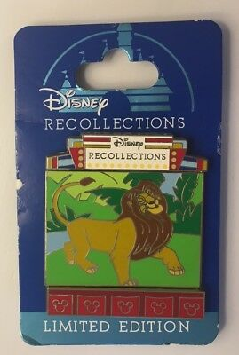 Disney World - Recollections Slider Movable - Simba The Lion King - LE3000 Pin