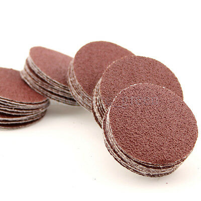 50x 2inch 60grit  Sandpaper Sanding Disc Hook&Look Backed Pad Polishing 50mm 60#