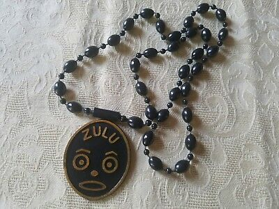 zulu plastic token on necklace mardi gras doubloon new orleans rare vintage