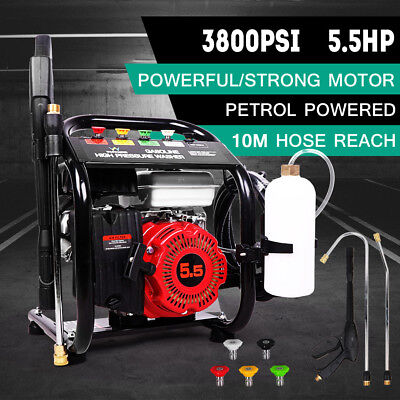 5.5HP 3800 PSI High Pressure Washer Petrol Water Cleaner Gasoline 5m Hose