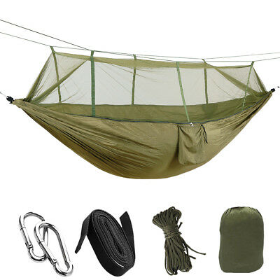 Portable Outdoor Camping Hammock Hanging Relaxing Sleeping Bed with Mosquito Net