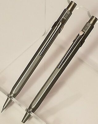 Caran D'ache Metal Collection 0.7mm Mechanical Pencil & Pen Grey Set lot bundle