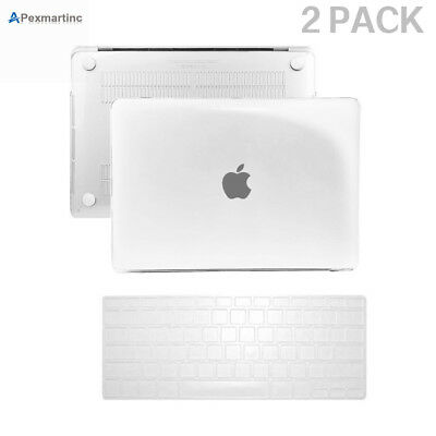 """Crystal Clear Hard Rubberized Case+Keyboard Cover for Mac Air 11"""" A1370/ A1465"""
