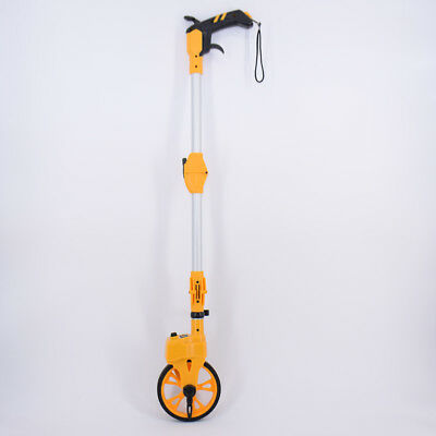 Mini Surveyors Measuring Wheel Adjustable Handle 9999.99m Metric with Bag