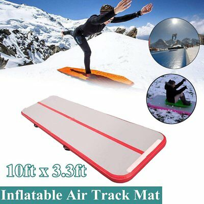 Airtrack Air Track Floor Inflatable Gymnastics Tumbling Mat GYM w/ Pump Red US @