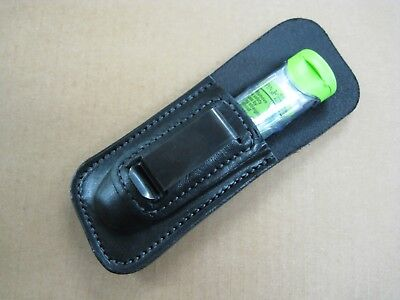 LEATHER Epinephrine Case / Epi Pen Holder Holster IWB Pouch - Made in USA Black