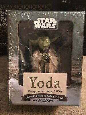 Star Wars Yoda Figurine with Stand, Stickers and 48 Page Book New In Package