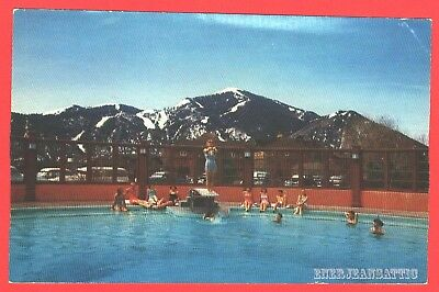 Sun Valley Idaho Year Round Swimming Pool Photo Postcard