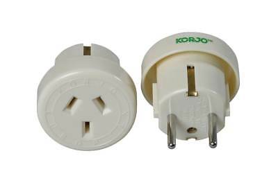 Korjo Travel Adaptor For Europe From Australia New Zealand - Fast Shipping
