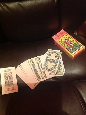 The Herbal Tarot Deck Holistic-Healing-Oracle- Cards Used-US-Games-Edition