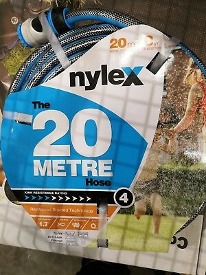 Nylex 12mm x 20m  Garden Hose Kink Resistance 4 with fittings