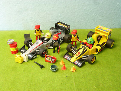 2 Formel 1 Rennautos Racing  Figuren Motorsport Fun Sport Playmobil 576