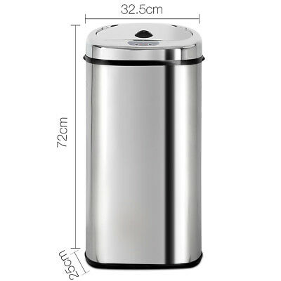 50L Modern Design Stainless Steel Rubbish Bin Motion Sensor Waste Electric Trash