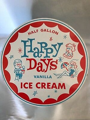 HAPPY DAYS HALF GALLON ICE CREAM TIN VANILLA - grocery shop