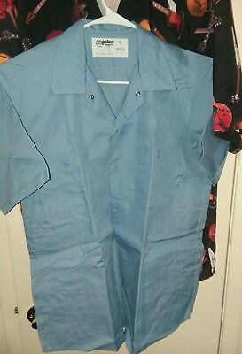 """New Lot """"6"""" Blue Uniform Shirts Mens L Factory Folded Angelica Made in  USA"""